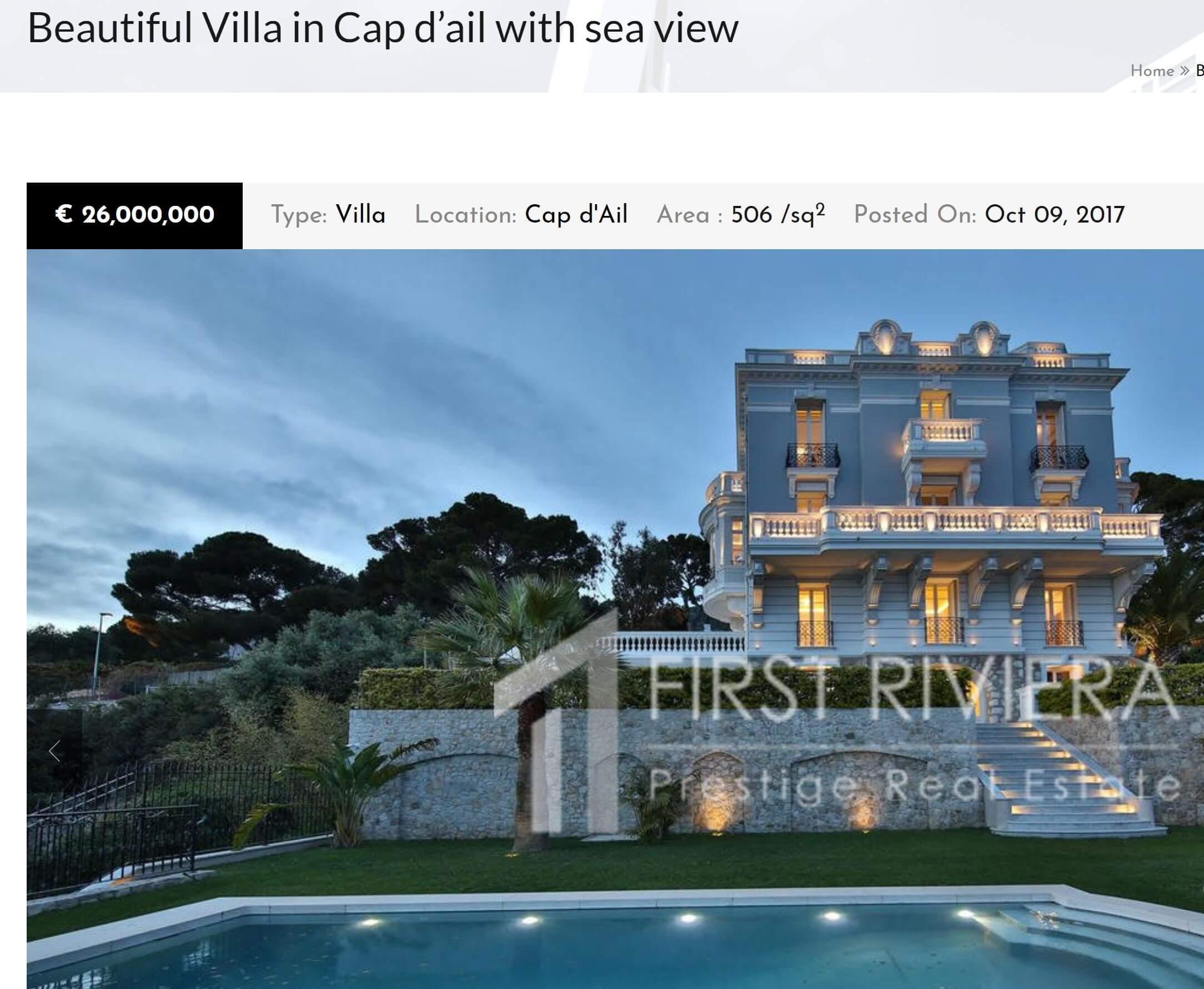 0c7fb9b50e6dc9 Création de site web pour agence immobilière Beaulieu-sur-mer ...